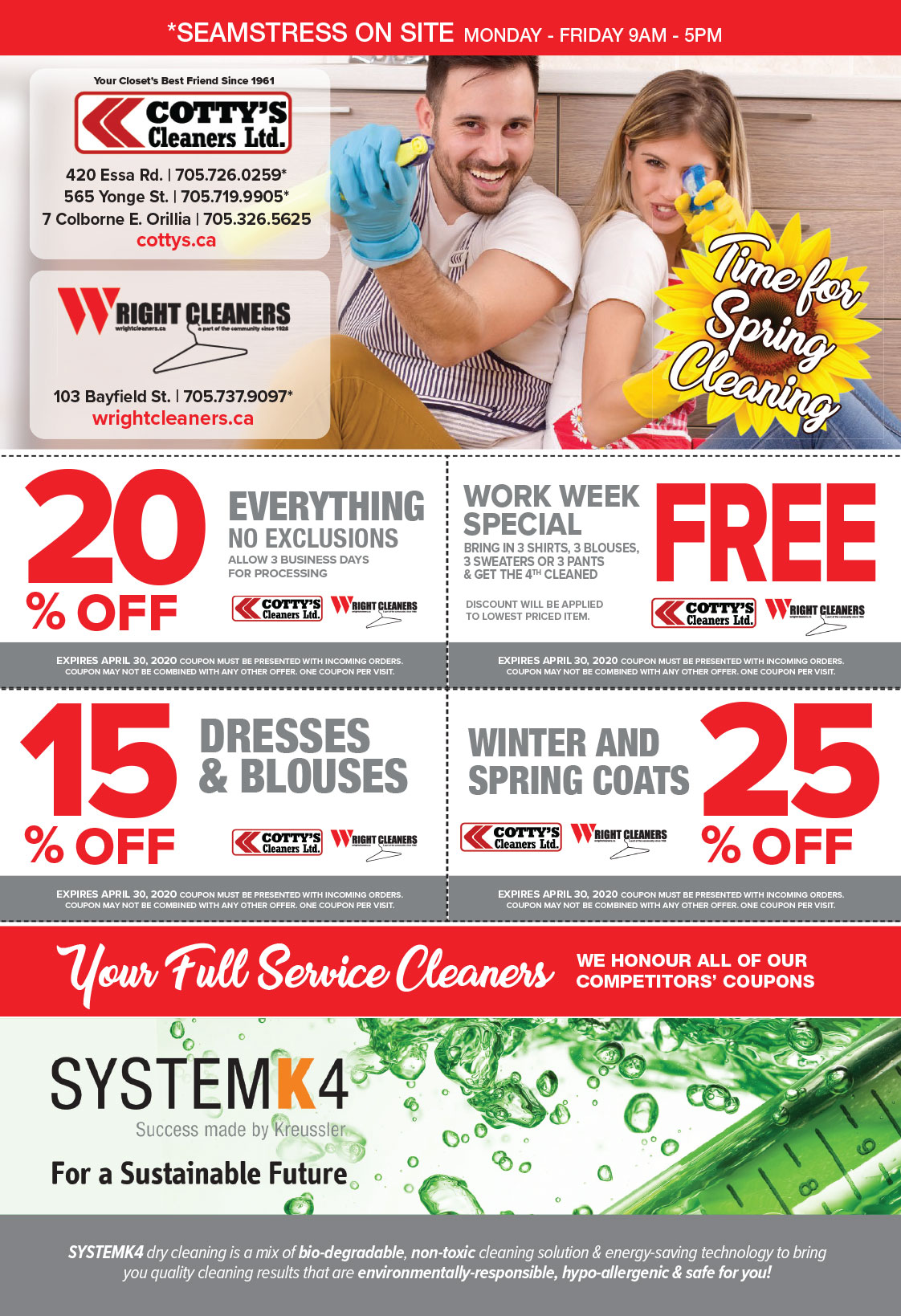 Cottys Cleaners - Dry Cleaning Coupons