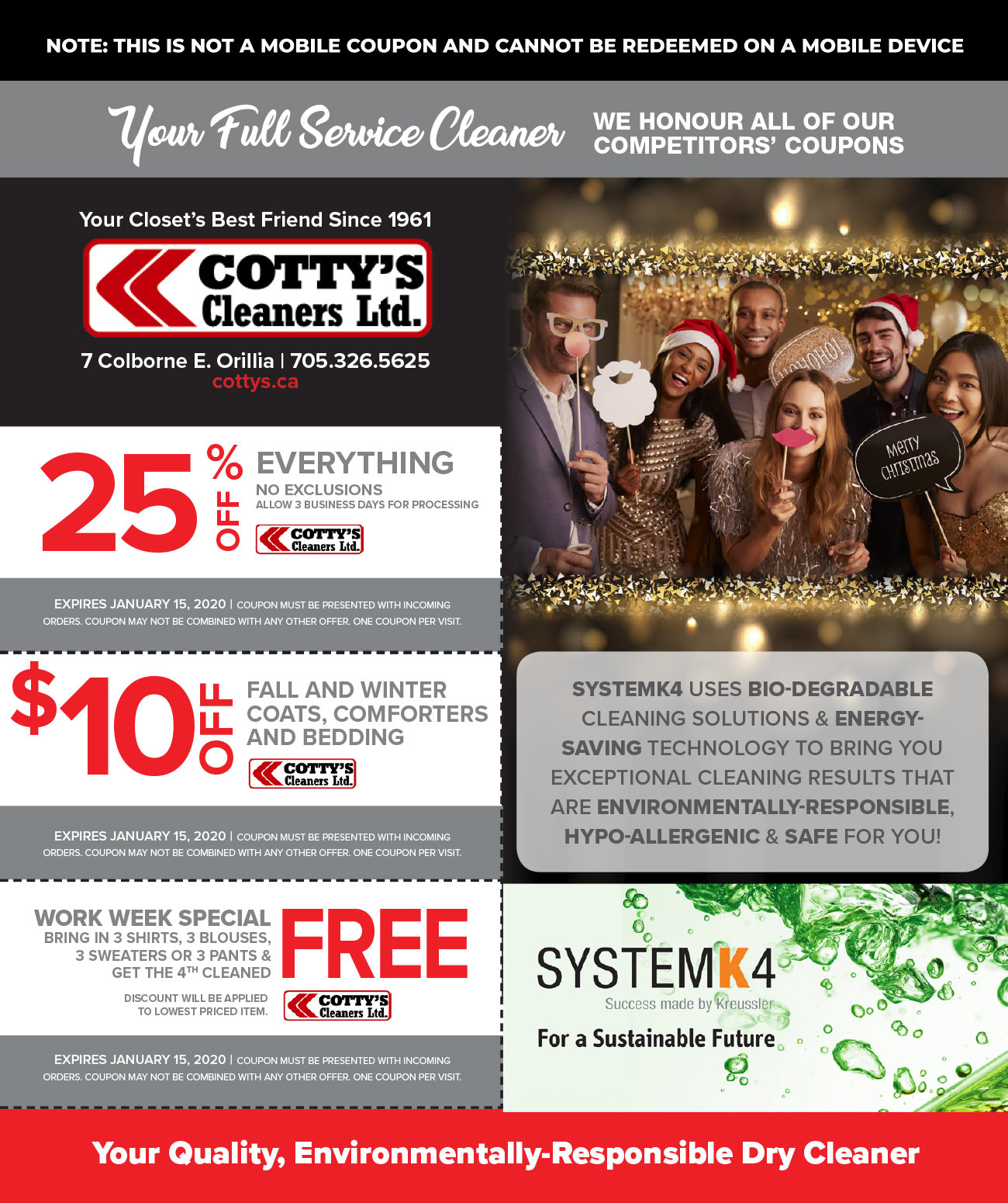 Cotty's Cleaners - Dry Cleaning Coupon